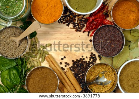Image of spices - spice is nice. - stock photo