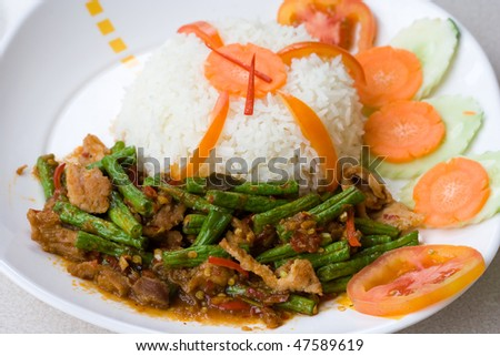 Image of spicy Thai food - stock photo