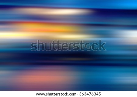 Image of stripes moving fast over blue background - stock photo
