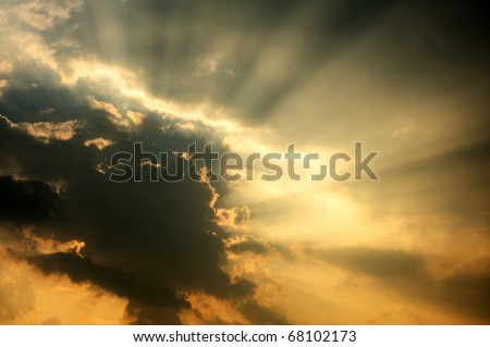 Image of sunbeam whit ray of light.
