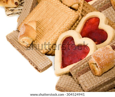 image of tasty cookies closeup - stock photo