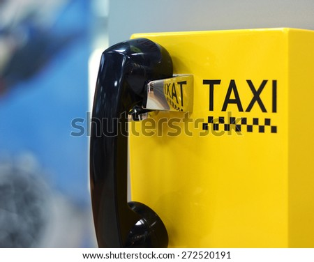 Image of taxi phone in airport