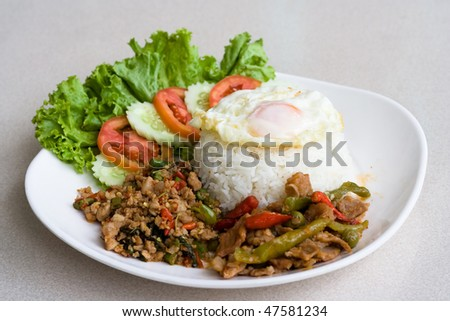 Image of Thai spicy delicious food. - stock photo