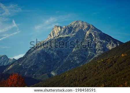 Image of the beautiful alps area.