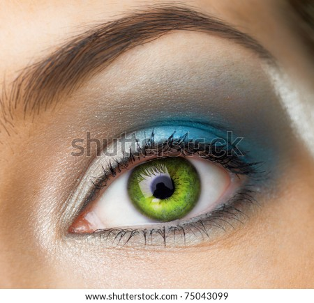 image of the beauty eye - stock photo