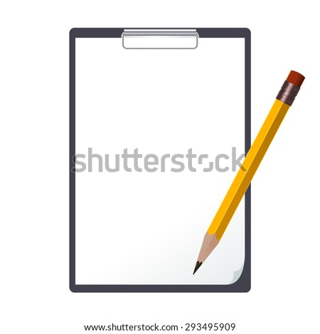 Image of the black tablet and an pencil