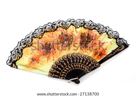 Image of the bright open fan. - stock photo