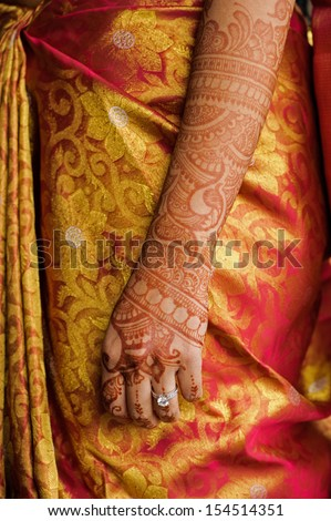 Image of the mehndi Indian wedding henna tatoo