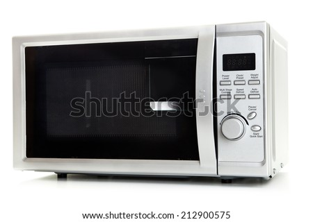Image of the microwave oven on a white background - stock photo