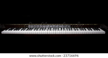 Image of the piano keys
