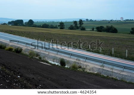 Image of the public road - stock photo