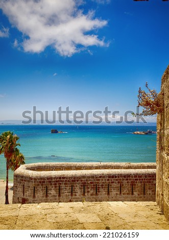 image of the sea and cloud - stock photo