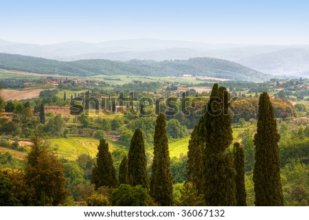 image of typical tuscan landscape, Italy - stock photo