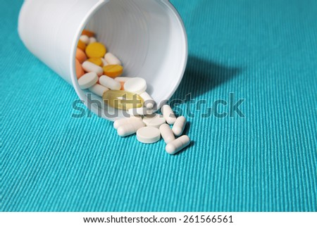 Image of various pills and tablets - stock photo
