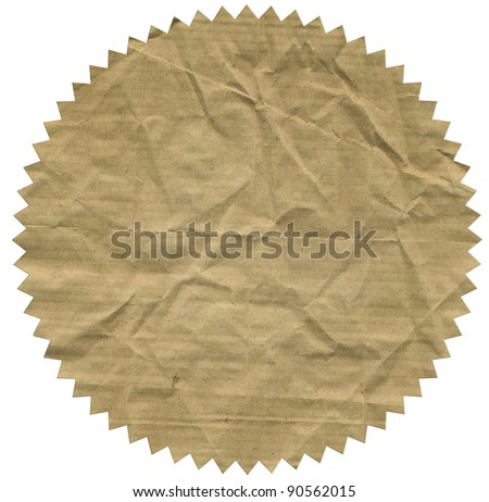 Image of vintage label on white - stock photo