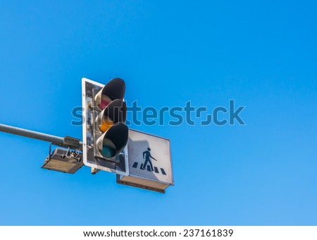 image of walk sign in Thailand . - stock photo