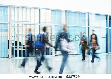 image of walking people - stock photo