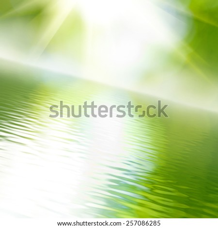 image of water against the sun - stock photo