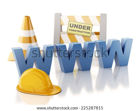 image of Website building , under construction concept. 3d illustration - stock photo