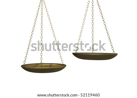 Image of weighing scales isolated on a white background. - stock photo