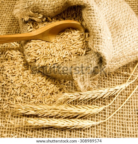 wheat sack wall decor - 450×470