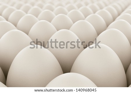 Image of white eggs. Perfect for anything related to healthy food, easters, eggs production and food industry in geneneral. - stock photo