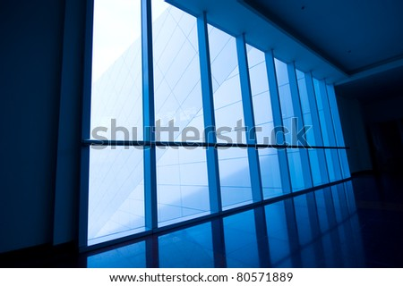 image of windows in morden office building. - stock photo