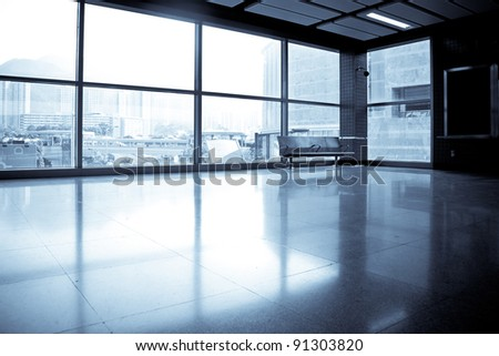 image of windows in morden office building - stock photo