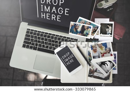 Image Photo Advertisement Merketing Commercial Concept - stock photo