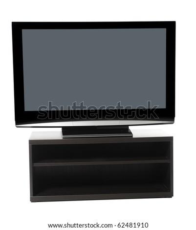 image plasma lcd tv. Isolated on white background - stock photo