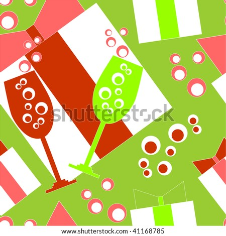 Image. Seamless ornament with christmas in color 112. More seamless see in portfolio