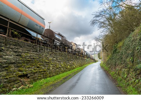 Image showing freight trains and cargo - stock photo