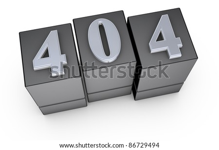 image to use on websites as 404 error page, or as concept of computer error (3d render) - stock photo