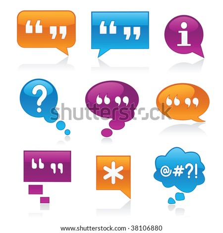 Image version of vibrant, glossy bubbles symbolizing communication - stock photo