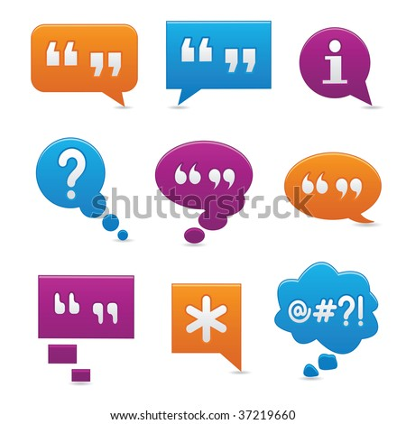 Image version of vibrant, smooth-style bubbles symbolizing communication - stock photo