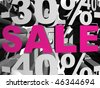 Image with sale word - stock photo