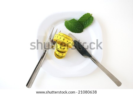 Imagen for a diet. - stock photo