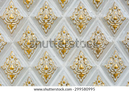 Images artistic of line thai, in Nakhon Ratchasima Thailand Wat Banrai temple - stock photo