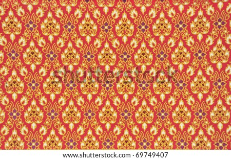 Images artistic texture, Thai texture, Lay Thai style, Art. - stock photo