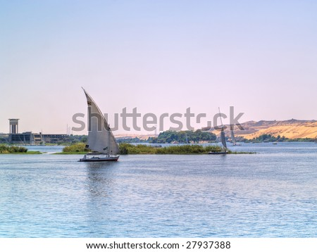 Images from Nile - stock photo