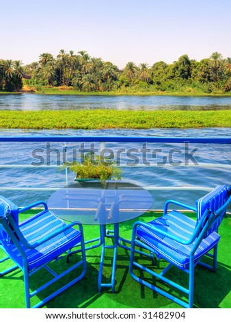 Images from Nile:Take a seat and enjoy - stock photo