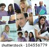 Images of a busy office - stock photo