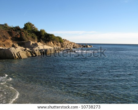 IMAGES of a WINTER EXCURSION OF CAPE TAILLAT TO the BEACH OF ROUBINE, GULF OF ST TROPEZ, VAR FRANCE