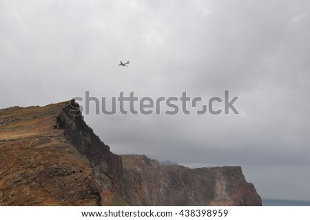 images of end of the world in Madeira, a view to the south east tip and Ponta de Sao Lourenco