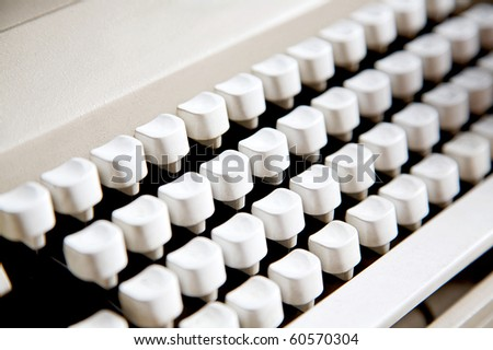 images of typewriter with no alphabet