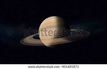 imaginary space illustration of a gas giant Saturn