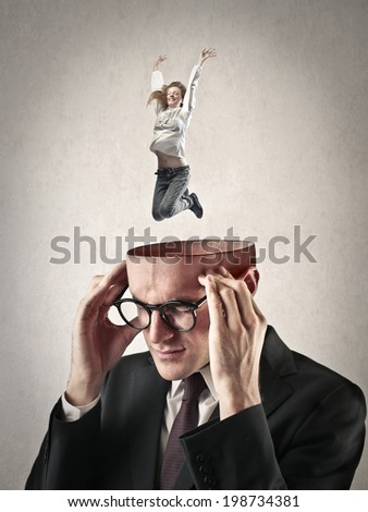 imagination - stock photo