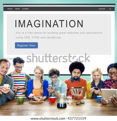 Imagination Dream Motivation Strategy Innovation Concept - stock photo
