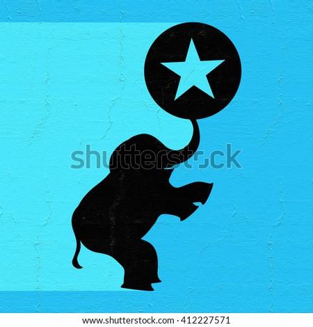 imaginative circus symbol - stock photo