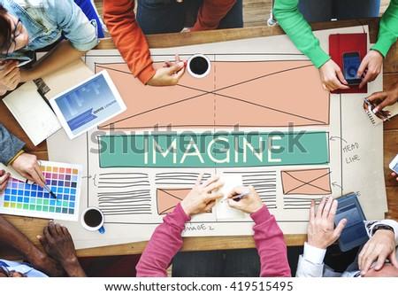 Imagine Imagination Creative Dream Thinking Concept - stock photo